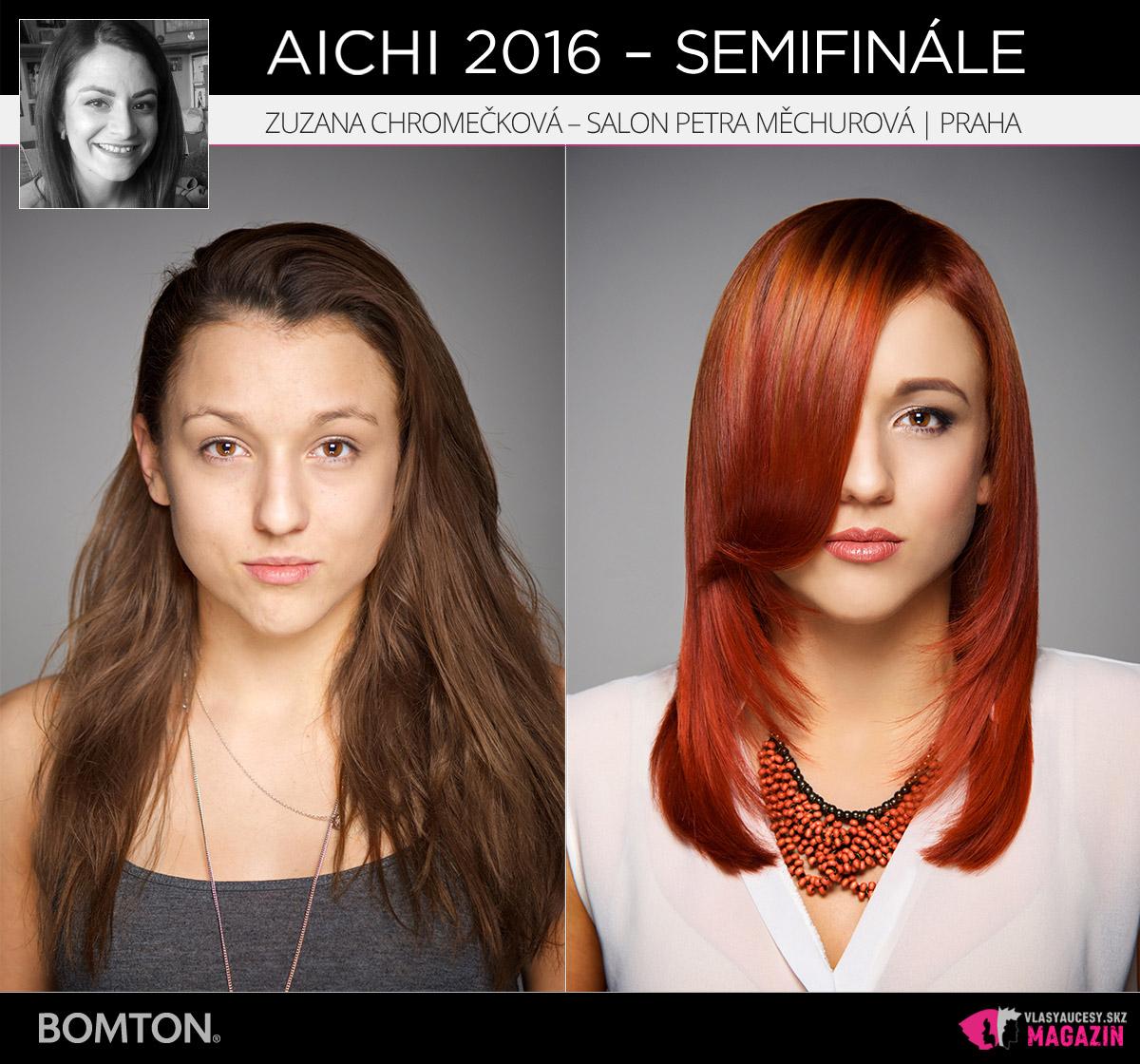 Zuzana Chromečková – Salon Petra Měchurová, Praha | Premeny AICHI 2016 – postupujúci do semifinálového kola