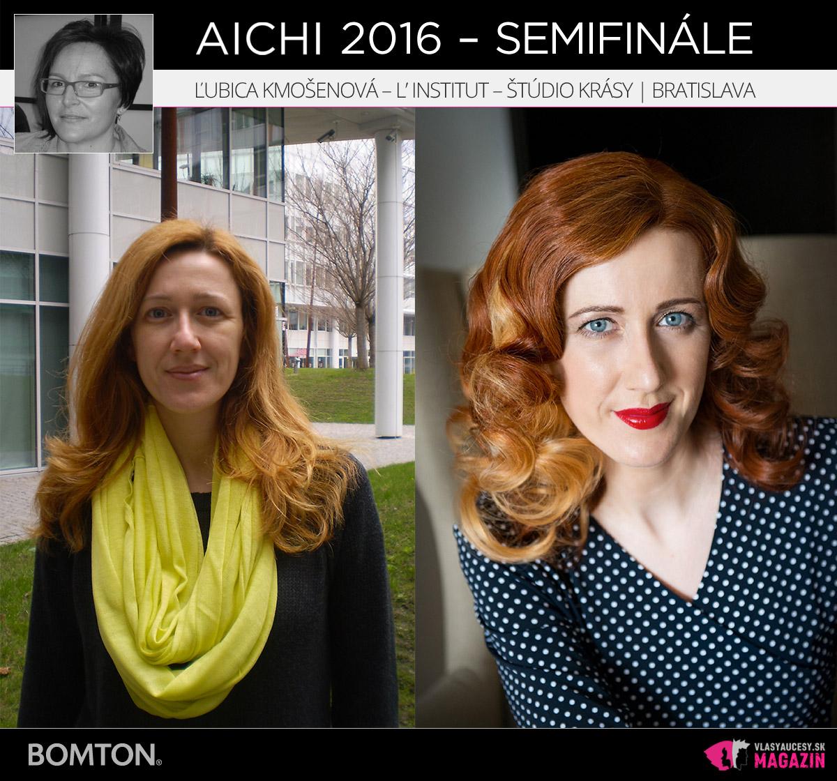 Ľubica Kmošenová – L'Institut – štúdio krásy, Bratislava | Premeny AICHI 2016 – postupujúci do semifinálového kola