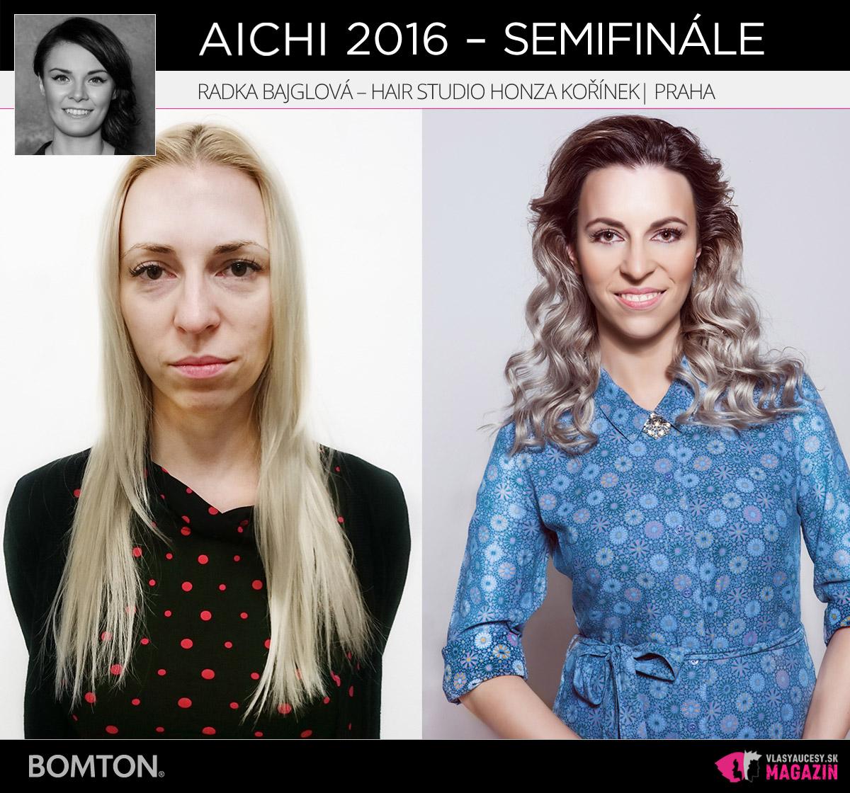 Radka Bajglová – Hair studio Honza Kořínek, Praha | Premeny AICHI 2016 – postupujúci do semifinálového kola