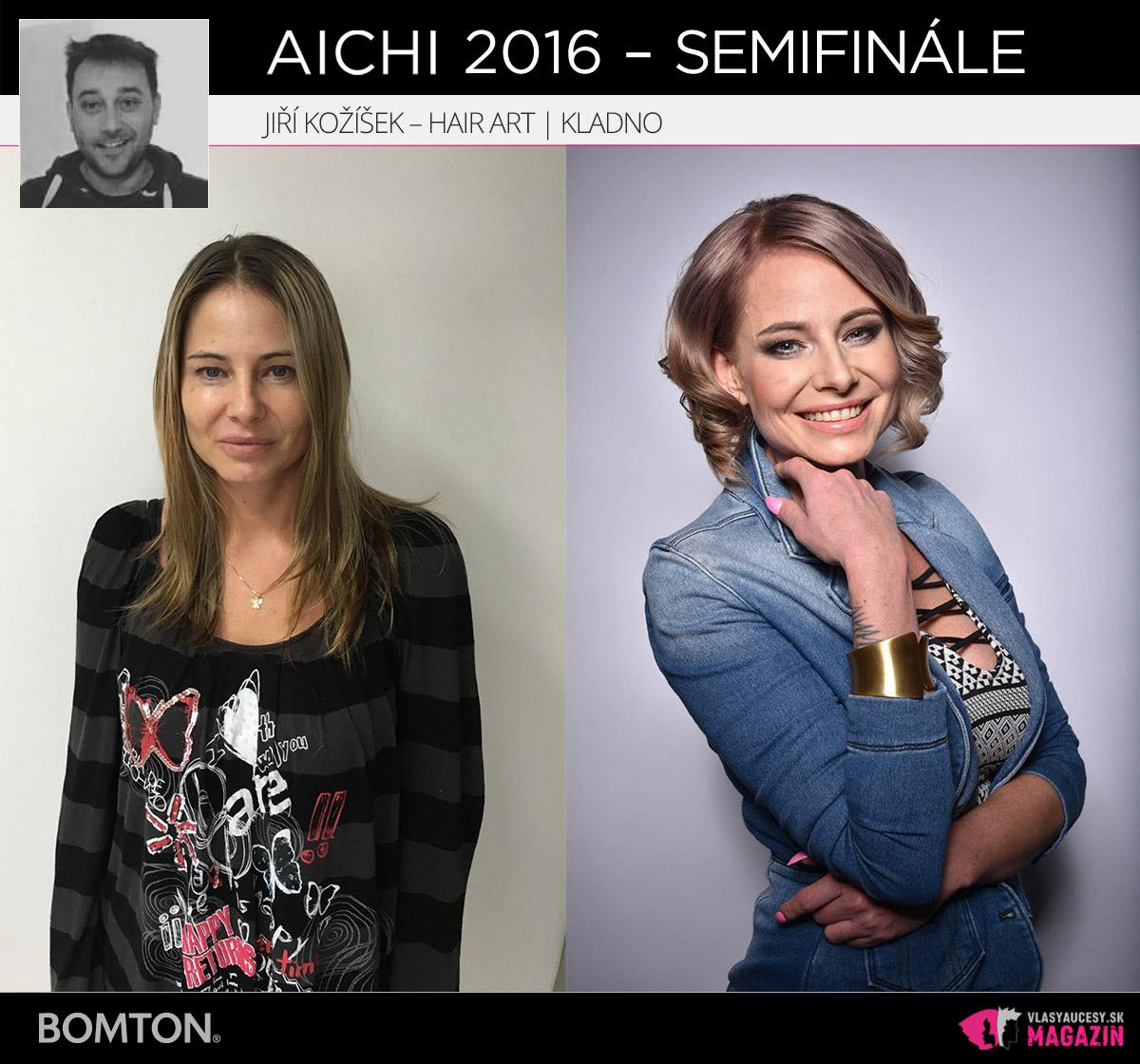 Jiří Kožíšek – Hair Art, Kladno | Premeny AICHI 2016 – postupujúci do semifinálového kola