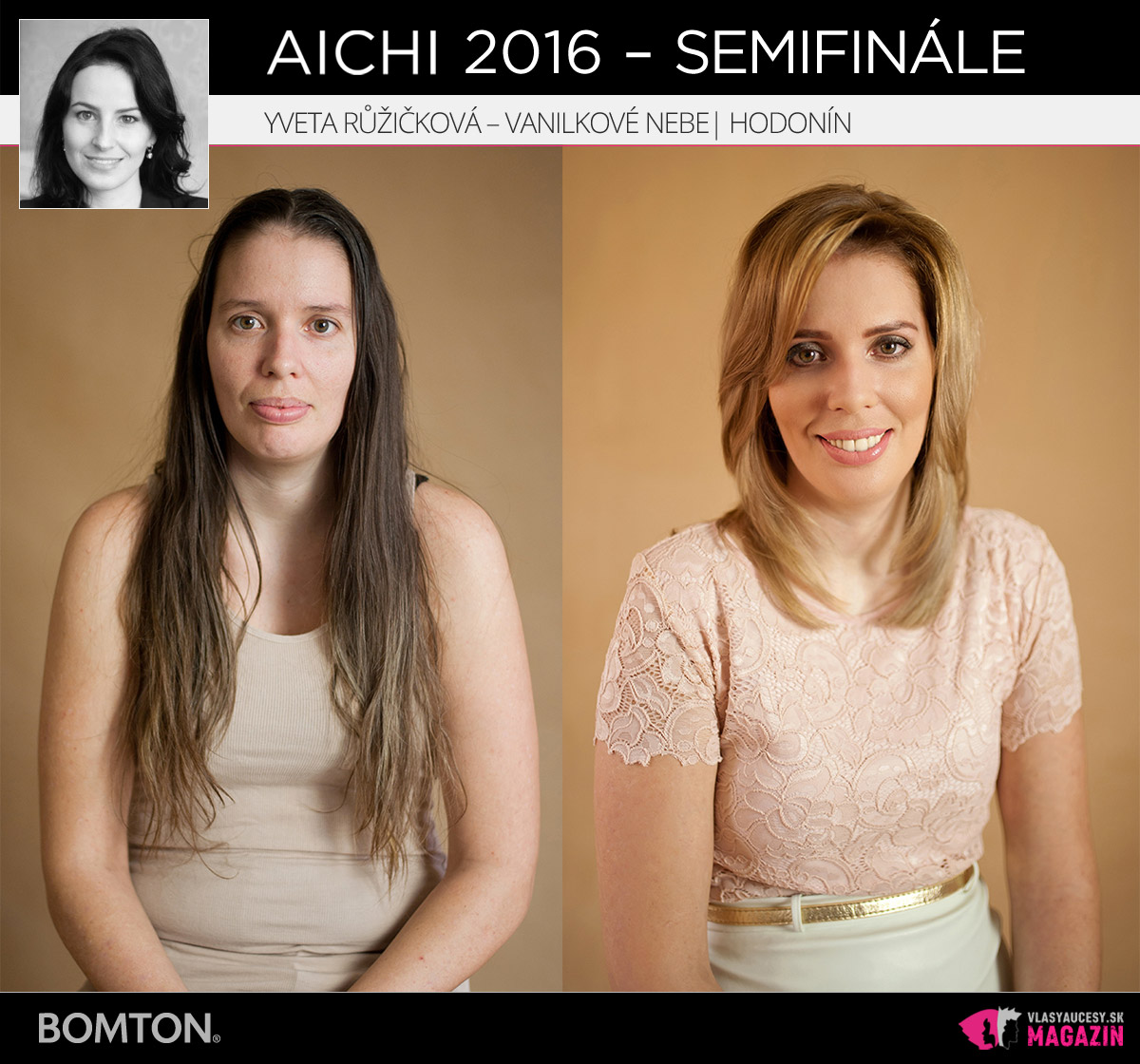 Yveta Růžičková – Vanilkové Nebe, Hodonín | Premeny AICHI 2016 – postupujúci do semifinálového kola
