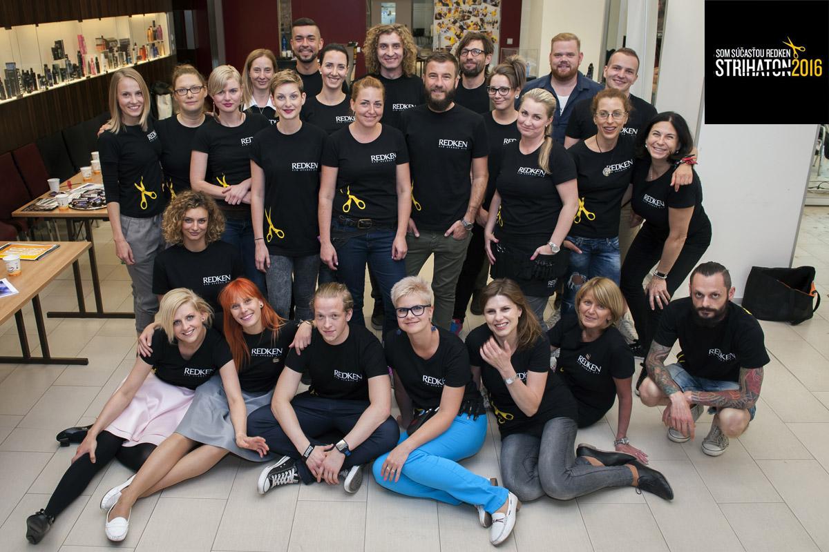 """16. júna 2016 sa bude konať už 7. ročník úspešnej charitatívnej akcie značky Redken – """"kadernícky maratón"""" Strihaton 2016."""