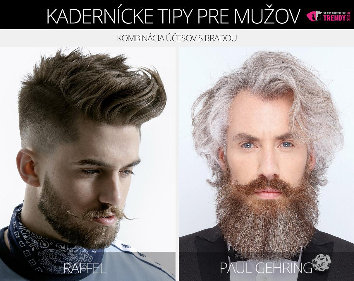 Účesy pre mužov z kolekcií Raffel a Paul Gehring. Tentoraz ako kombinácia s bradou.