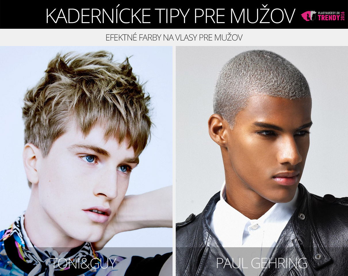 Farba na vlasy pre mužov podľa Toni&Guy a Paul Gehring.
