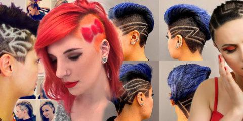 Nebojte sa strojčeku na vlasy ani keď nechcete ísť dohola. Dámske podholené účesy 2016, nazývané tiež undercut, teraz navyše zdobia tattoo.