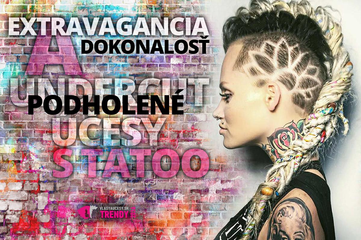 Podholené účesy s tattoo sú módnym hitom sezóny. Pristanú krátkym, polodlhým aj dlhým vlasom. Chce to len zobrať odvahu a myslieť na to, že sú o niečo náročnejšie na údržbu. Ku kaderníkovi si jednoducho budete musieť zájsť častejšie.