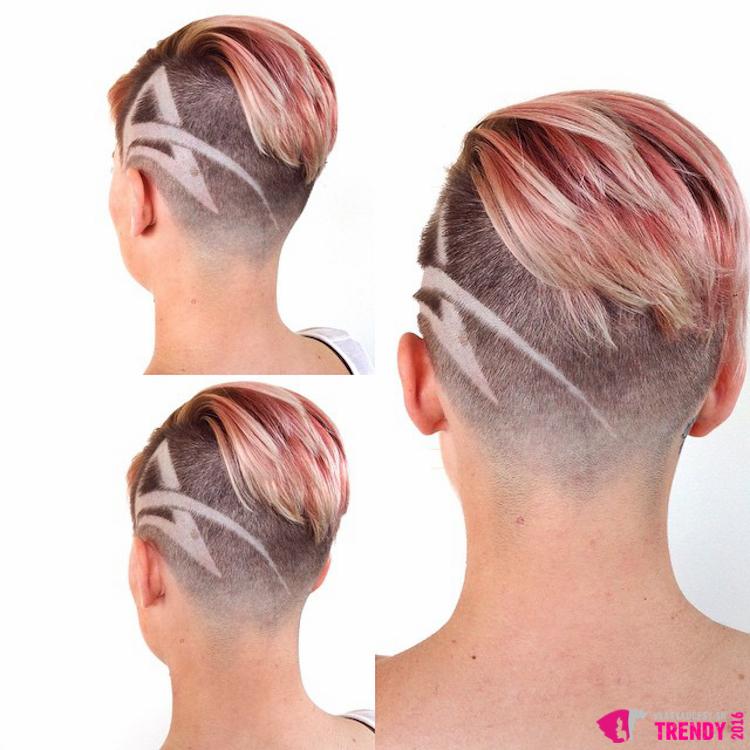 Ružový melír, undercut strih a vyholené tattoo vo vlasoch – módnejšie krátke vlasy tento rok asi nenájdete.