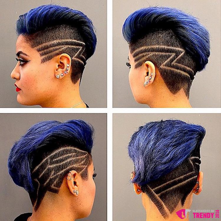 Podholené vlasy s tattoo budú chcieť vášho kaderníka vidieť častejšie ako vy sama.