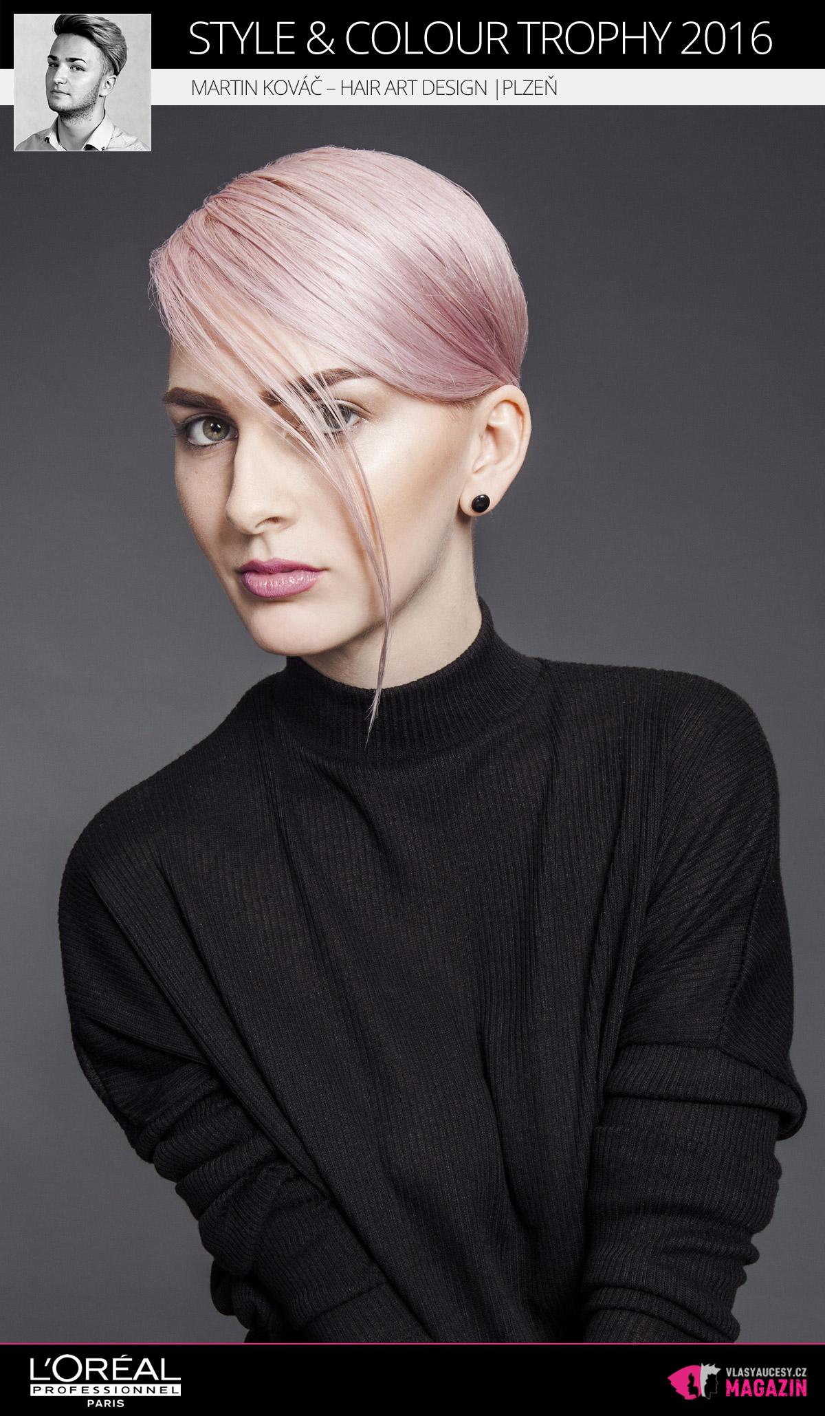Martin Kováč – Hair Art Design, Plzeň   L'Oréal Style & Colour Trophy 2016