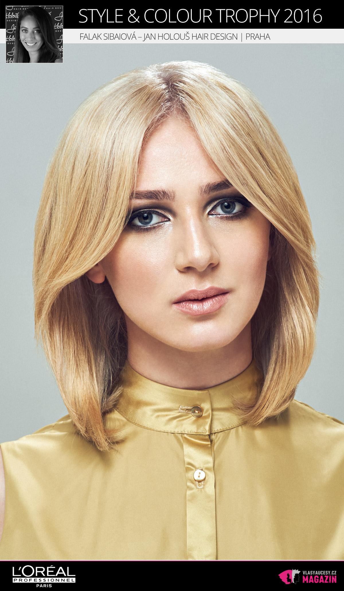 Falak Sibaiová – Jan Holouš Hair Design, Praha   L'Oréal Style & Colour Trophy 2016