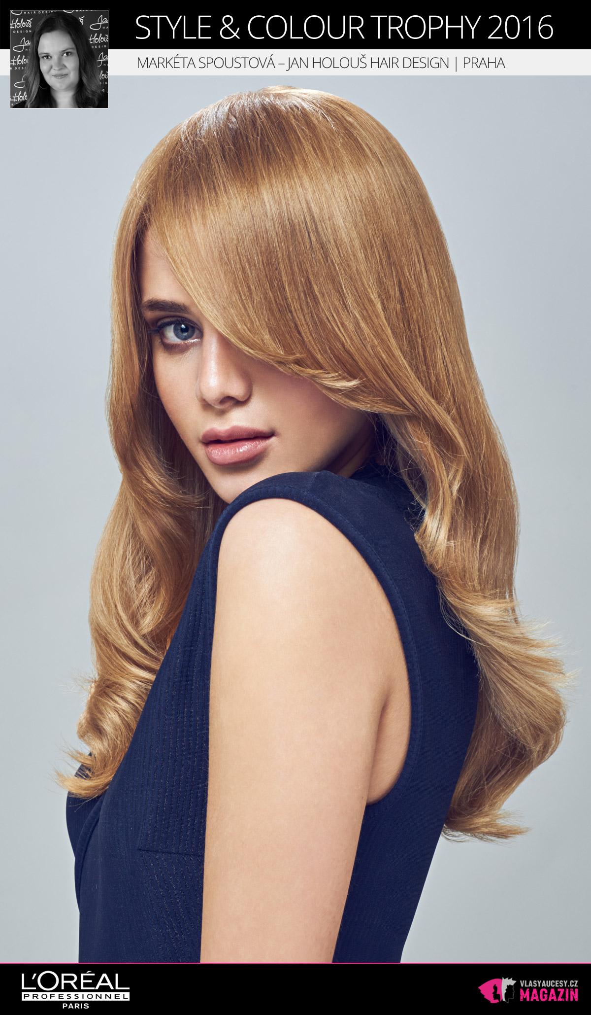 Markéta Spoustová – Jan Holouš Hair Design, Praha   L'Oréal Style & Colour Trophy 2016