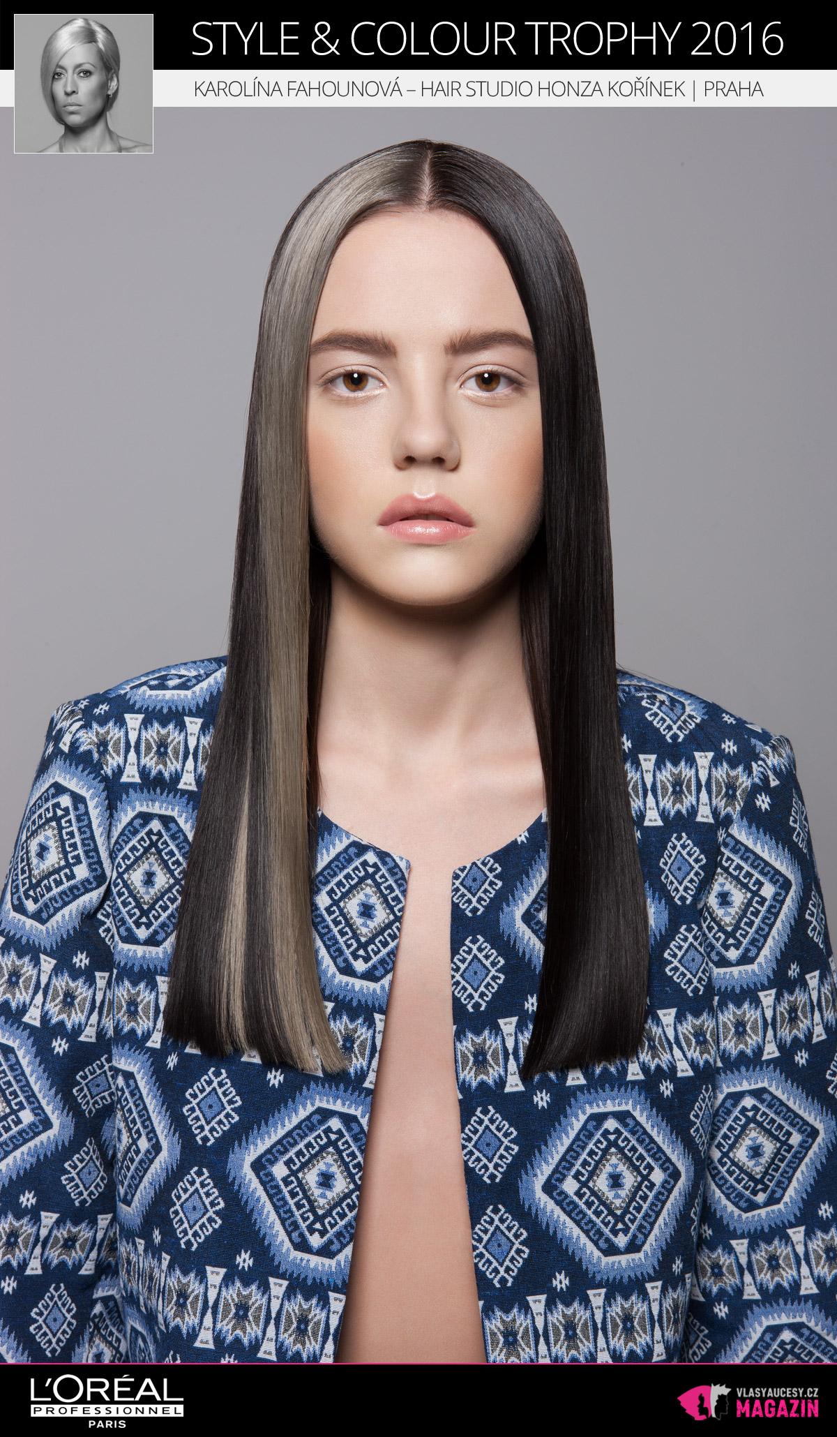 Karolína Fahounová – Hair Studio Honza Kořínek, Praha   L'Oréal Style & Colour Trophy 2016