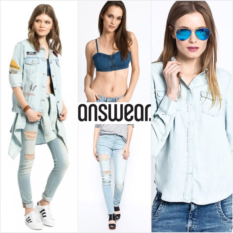 Trendy celodžínsový outfit z Answear.sk.