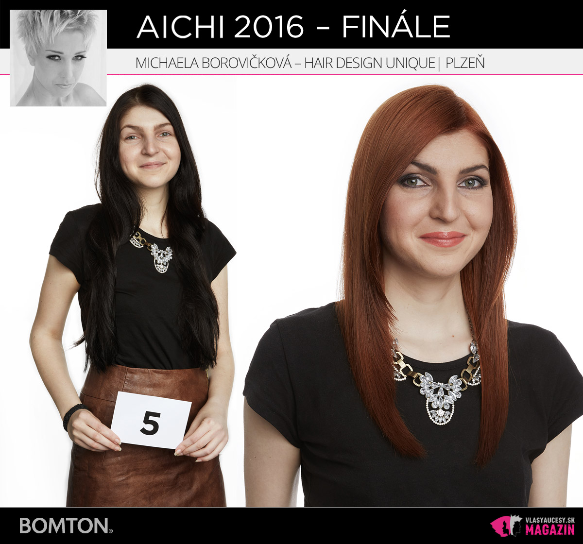 Michaela Borovičková – Hair Design Unique, Plzeň | Premeny AICHI 2016 – postupujúci do finálového kola