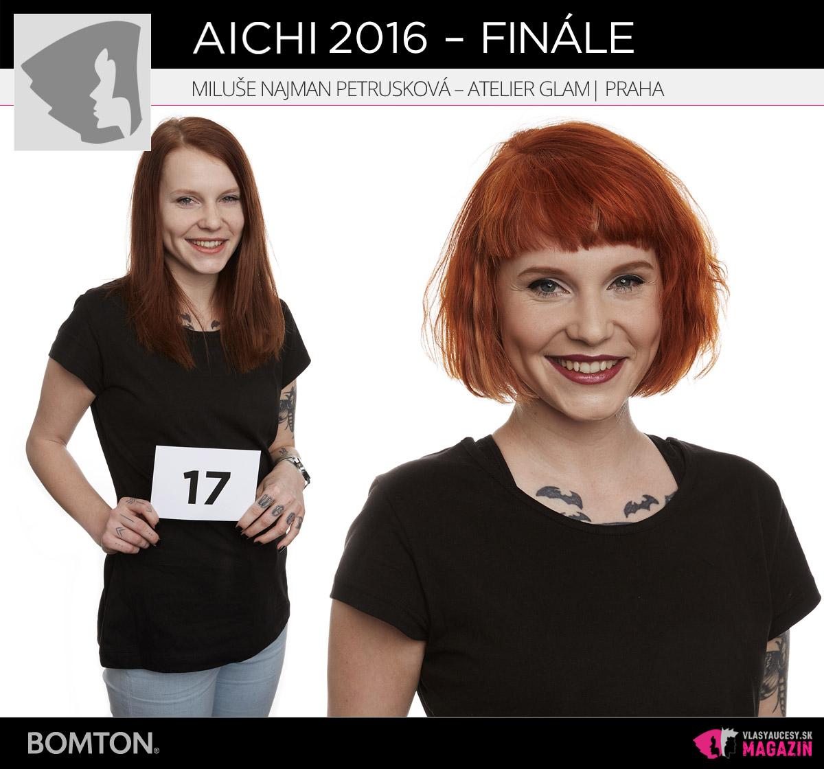 Miluše Najman Petrušková – Atelier Glam, Praha | Premeny AICHI 2016 – postupujúci do finálového kola