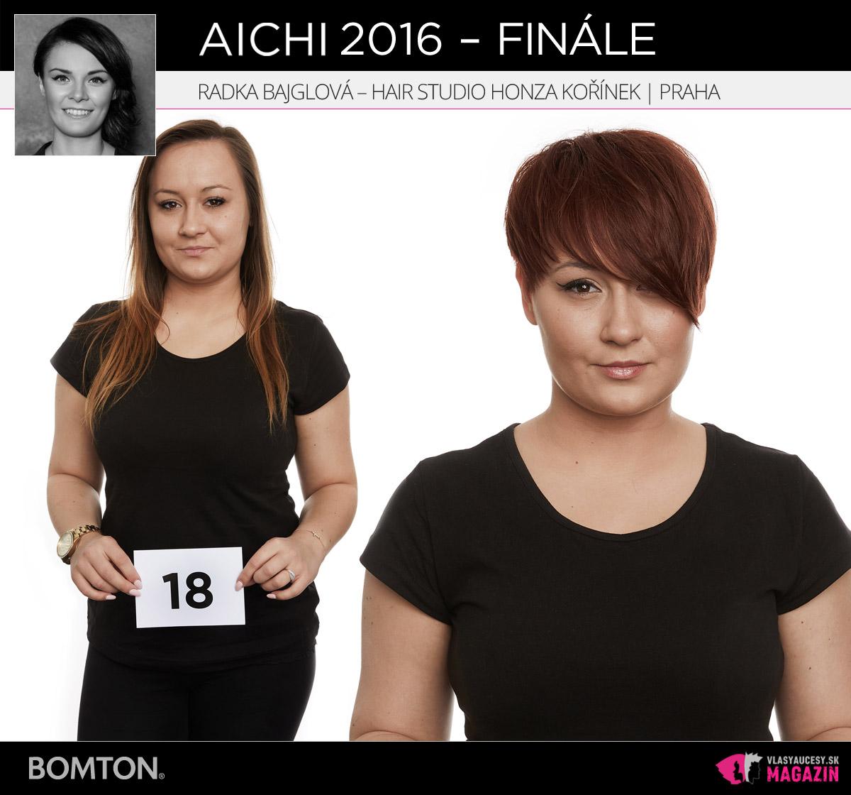Radka Bajglová – Hair studio Honza Kořínek, Praha | Premeny AICHI 2016 – postupujúci do finálového kola