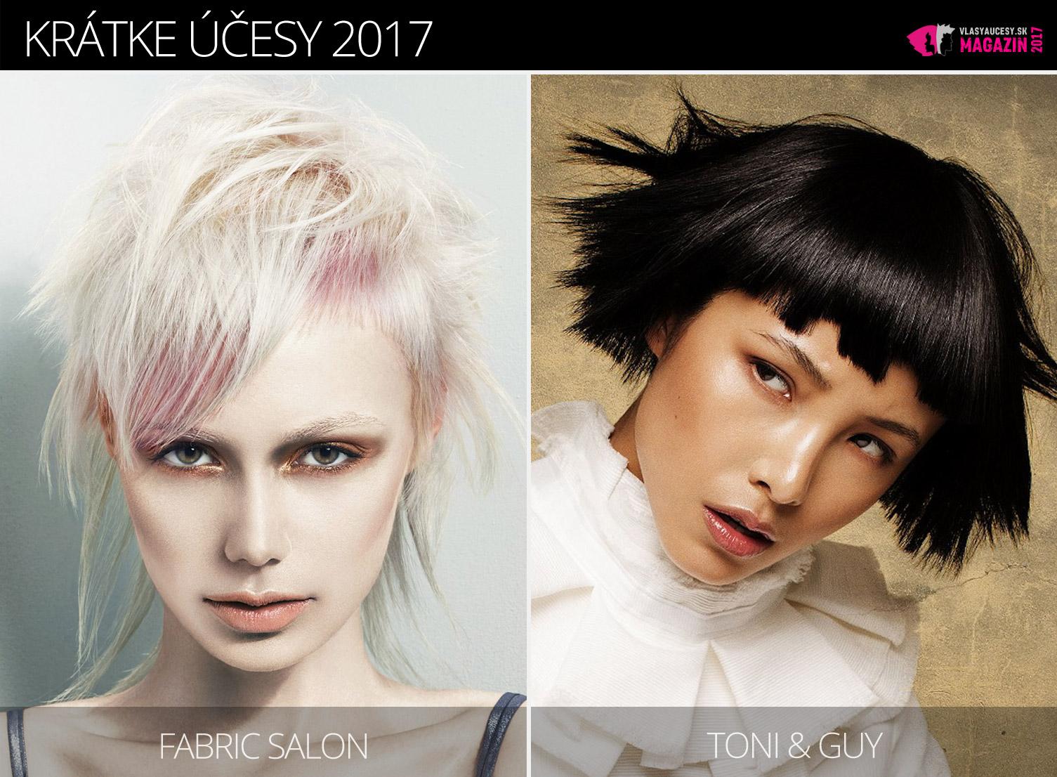 Tipy redakcie magazínu Vlasy a účesy na trendy krátke účesy zima 2017. Účesy pre krátke vlasy 2017 sú z kolekcií Fabric Salon a Toni&Guy.