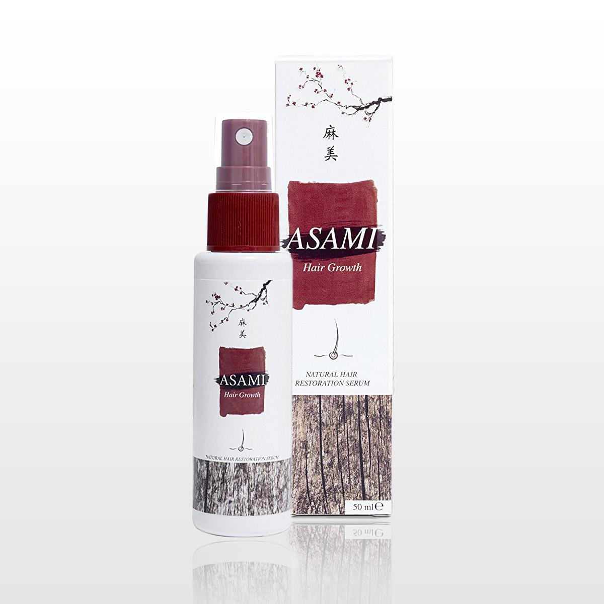 Asami – prípravok proti padaniu vlasov a k podpore ich rastu.