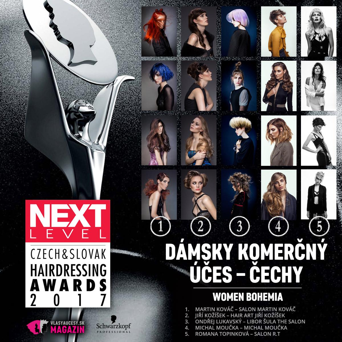 Czech&Slovak Hairdressing Awards 2017 – kategória Dámsky komerčný účes Čechy.
