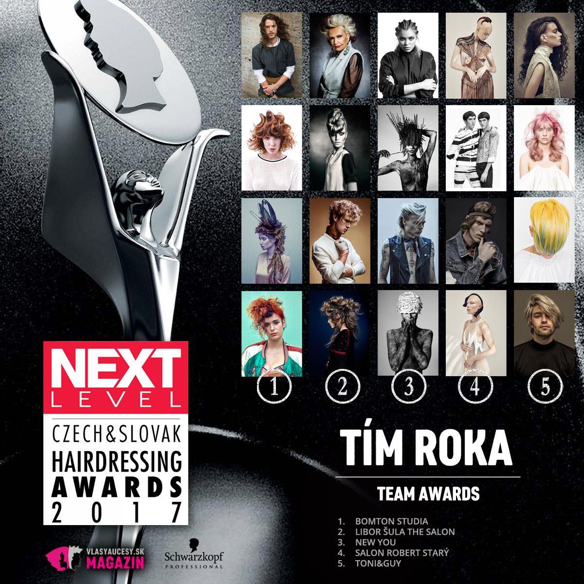 Czech&Slovak Hairdressing Awards 2017 – kategória Tím roka.