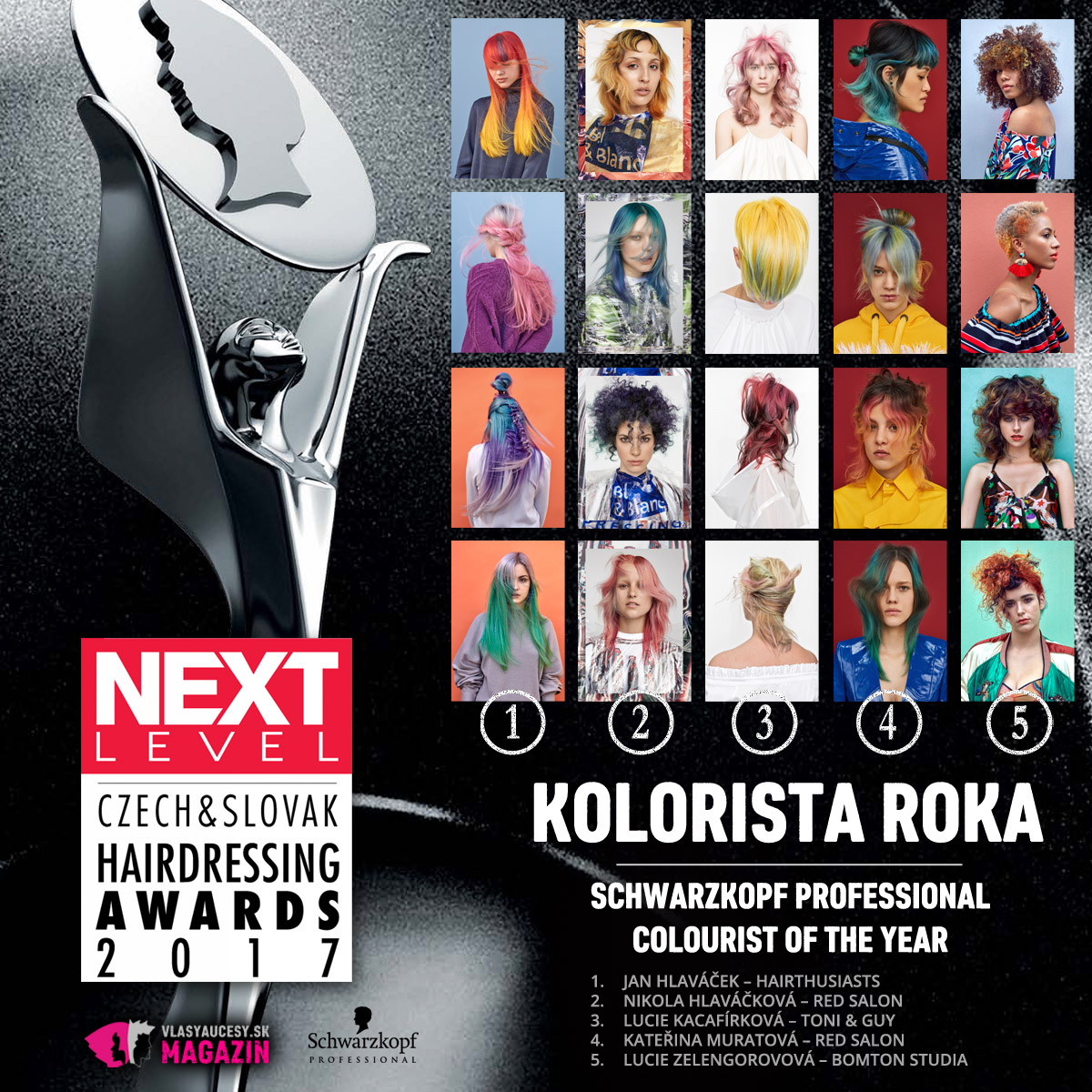 Czech&Slovak Hairdressing Awards 2017 – kategória Kolorista roka.