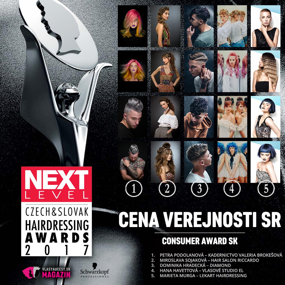 Czech&Slovak Hairdressing Awards 2017 – kategória Cena verejnosti SR.