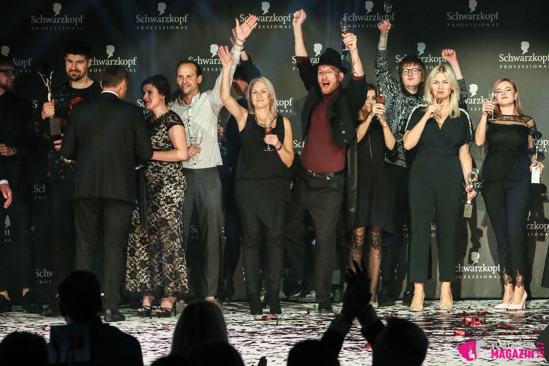 Galavečer Kaderníka roka 2017: Takto sa na pódiu tešili tohtoročný víťazovia Czech and Slovak Hairdressing Awards 2017.