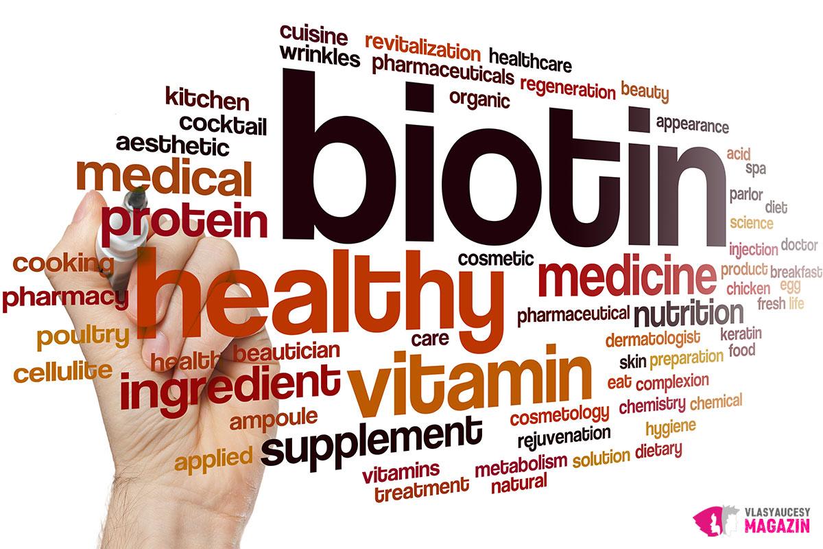 Biotín prispieva k udržaniu zdravého stavu vlasov, pokožky, nechtov a slizníc.
