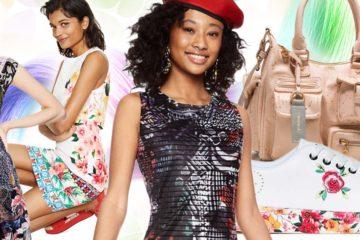 Šaty Desigual –farebná móda pre farebné účesy.