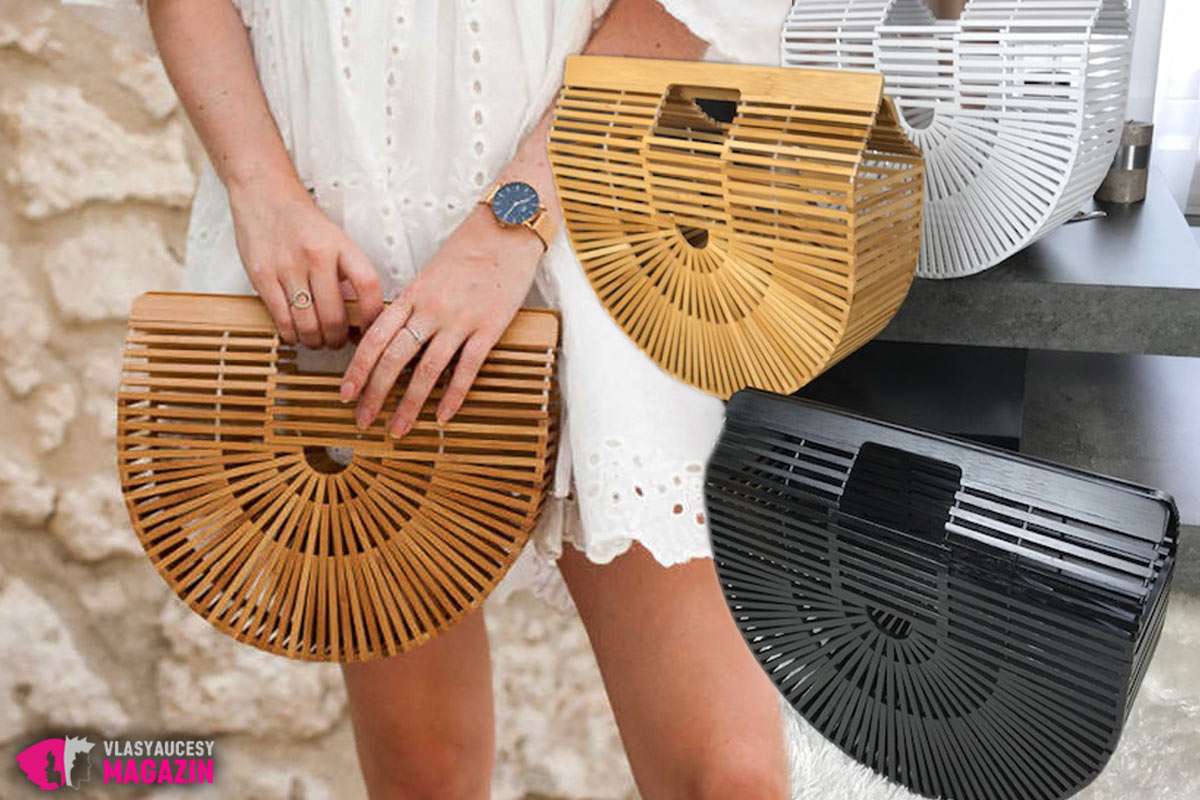 Letná kabelka v tvare košíku Bamboo. (Predajca: FashionMafia.sk)