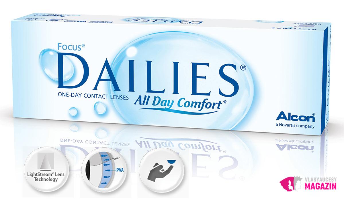 Výbornými jednorázovými kontaktnými šošovkami sú Focus Dailies All Day Comfort.