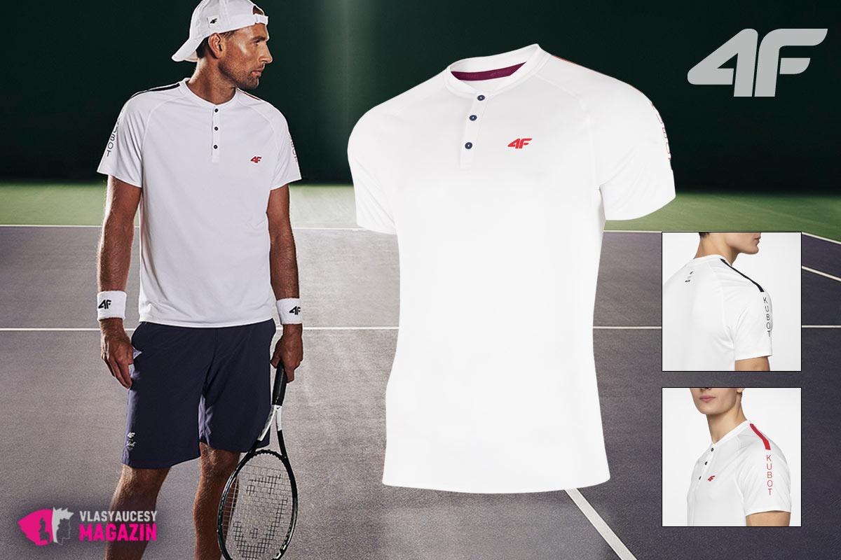 Elegantné funkčné pánske tričko na tenis z kolekcie 4F.