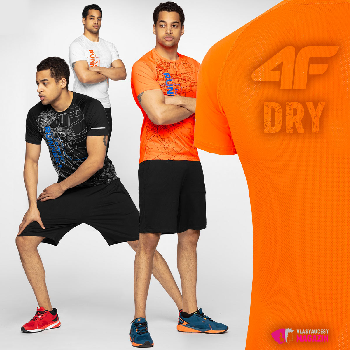 Termoaktívne pánske tričká 4F – v týchto si zabeháte lepšie než doposiaľ.