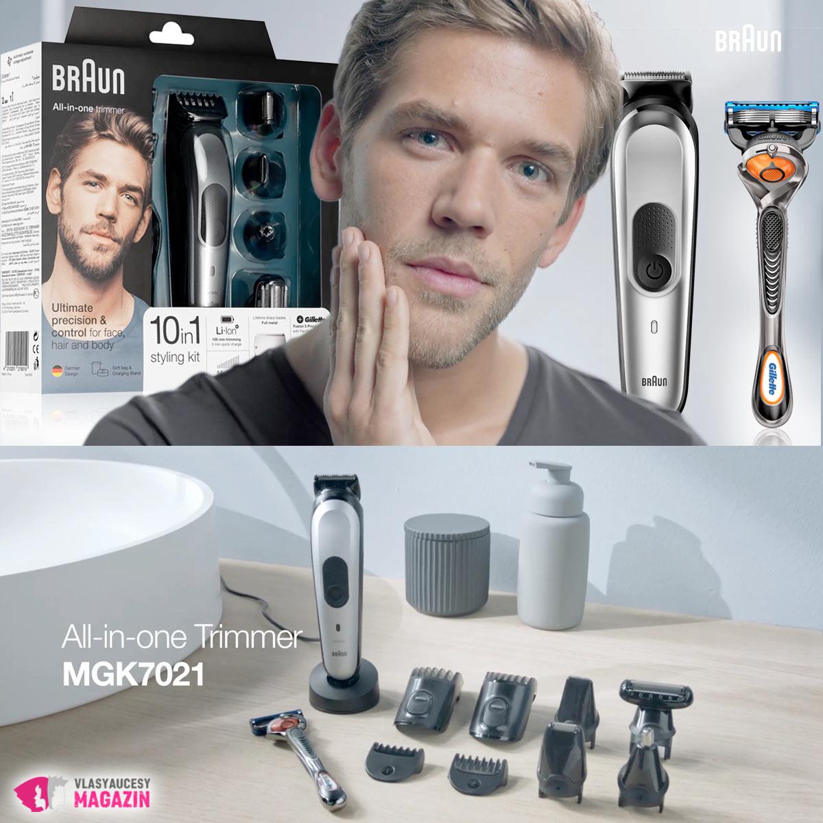 Ďalší strojček na vlasy a zastrihovač fúzov ako 10 in 1. Tentokrát od tradičného výrobcu Braun.