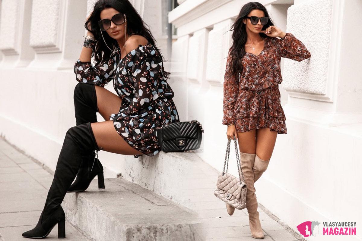 Dámske šaty pre jeseň 2019 sa neboja predviesť ani jesenné farby a vzory.