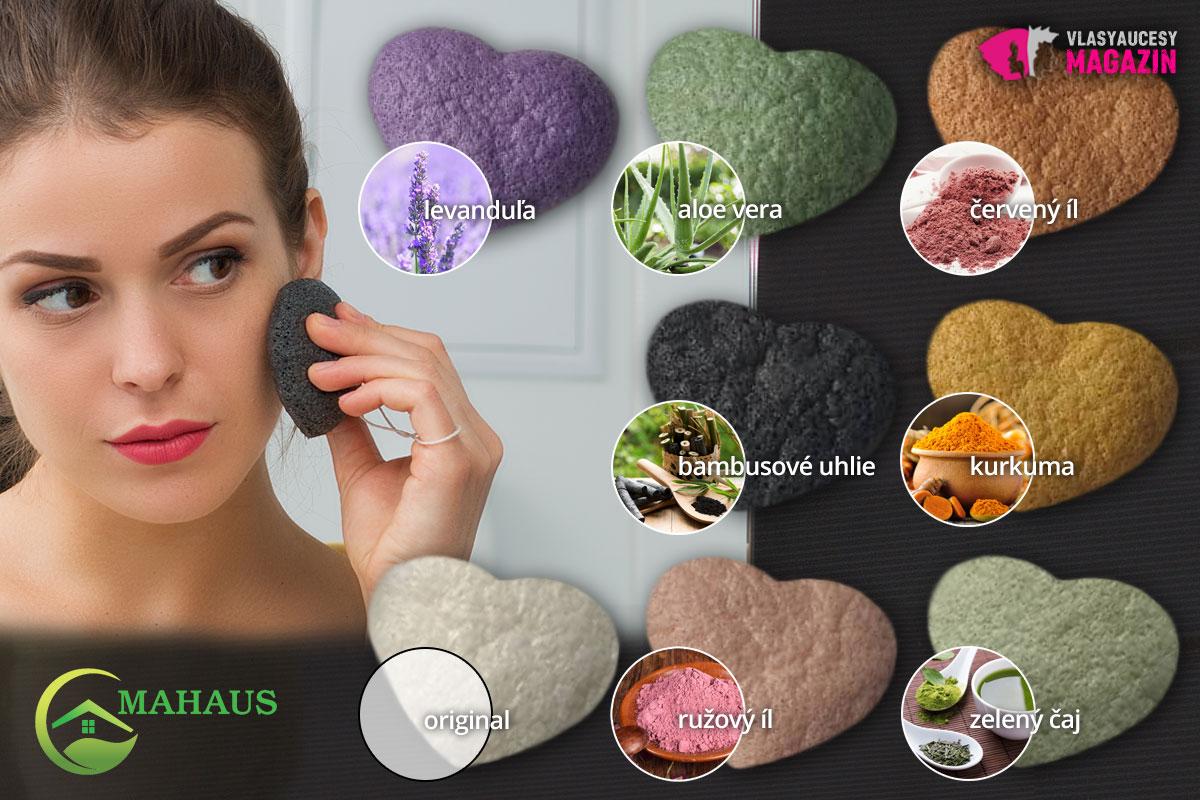 Krásne prírodné konjac hubky z e-shopu Ekomahaus.sk sú tiež výborným typom a darček.